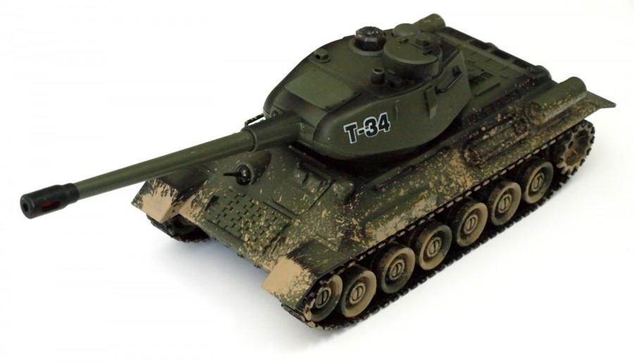 RC súbojový tank na ovládanie Russian T-34 v2 1:28 2.4GHz RTR