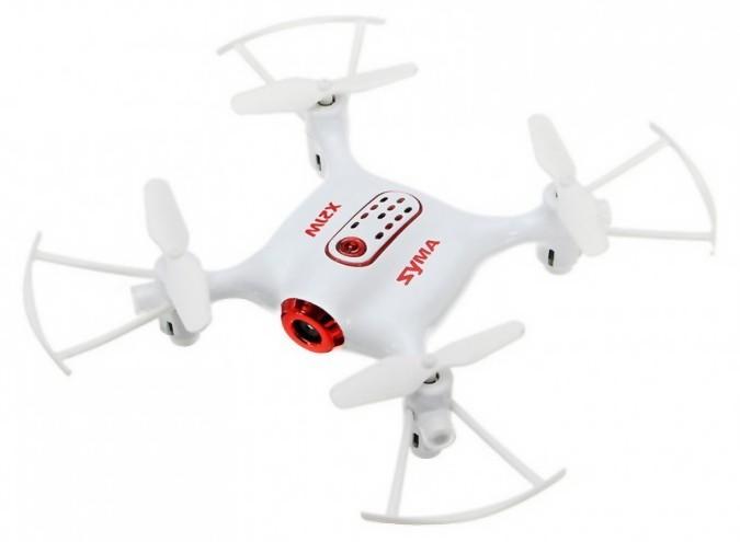 RC dron Syma X21W HD 2.4GHz (kamera FPV 720p, auto-štart) - biela