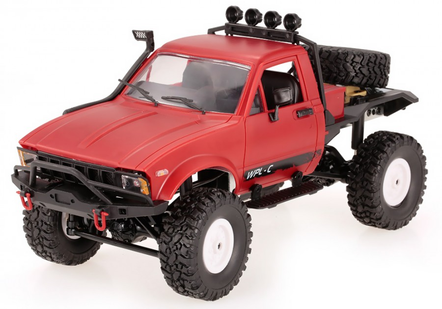 RC Auto na ovládanie OFF-ROAD WPL C-14 1:16, 4x4, 2,4G, LiPo - červená
