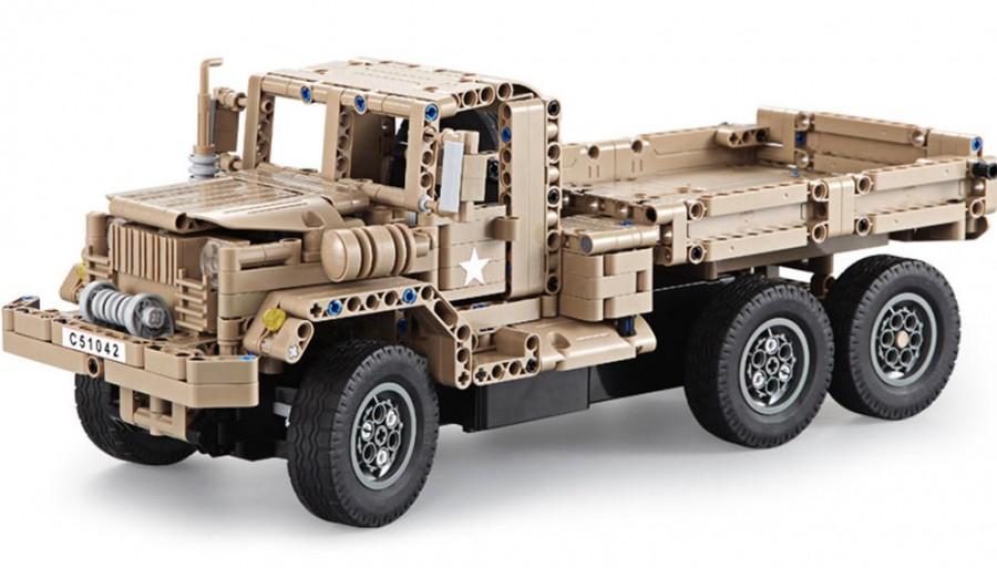 Vojenský vozík - STAVEBNICA NA DIAĽKOVÉ OVLÁDANÉ (C51042W)