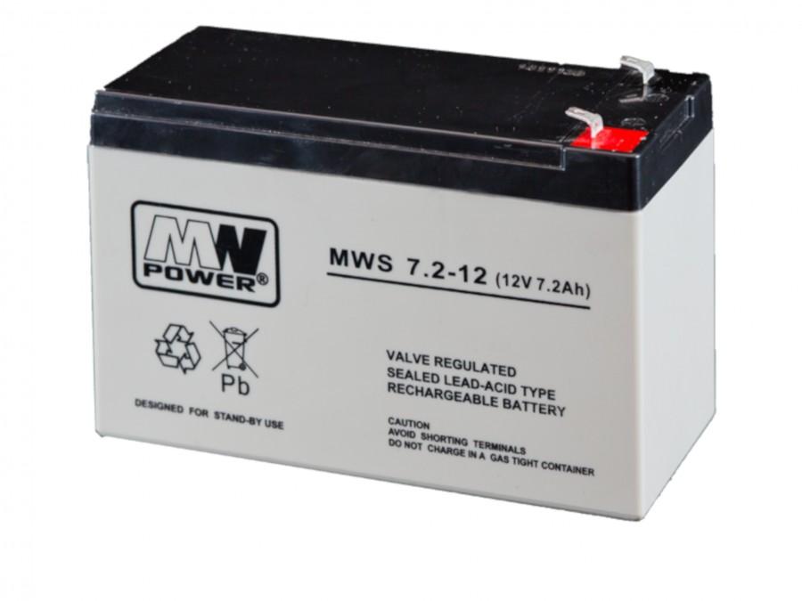 Batéria MW POWER: Pb 12V 7,2 Ah bezúdržbová gélová