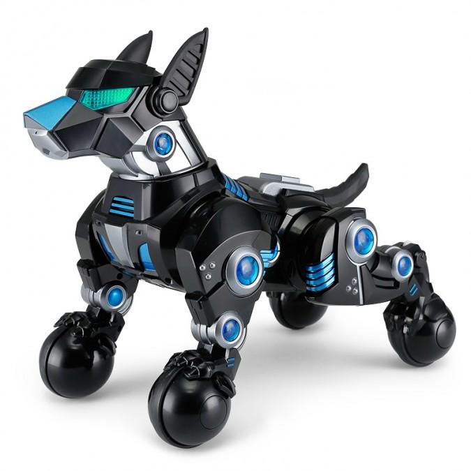 Interaktívny pes DOGO Rastar 1:14 (spev, tanec, vykonávanie príkazov, LED) - čierna