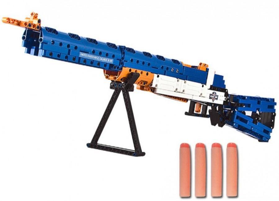 Double Eagle Puška M1, strieľa penové šipky - stavebnica DE (C81002W)