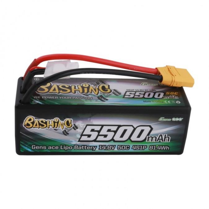 Gens Ace & TATTU: 5500mAh 14.8V 50C 4S1P HardCase 14 T-plug