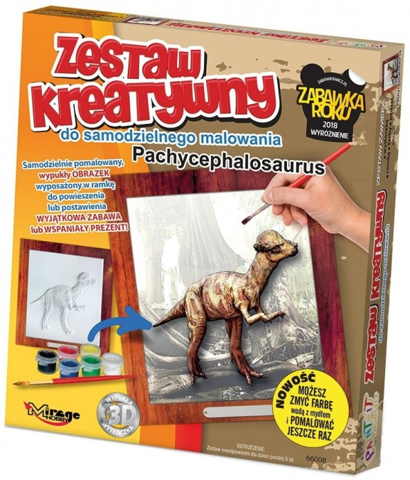 MIRAGE 3D maľovanka séria DINO - Pachycephalosaurus