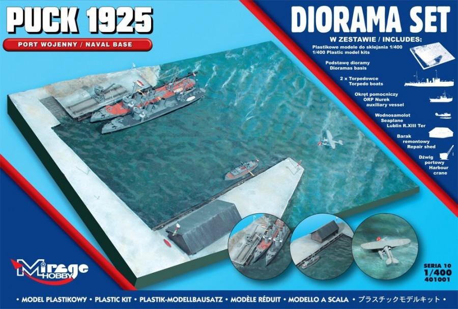 MIRAGE Vojenský prístav DIORAMA PUCK 1925