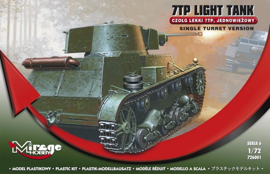 Plastovy model 7TP Polish Lightweight Goredom Tank