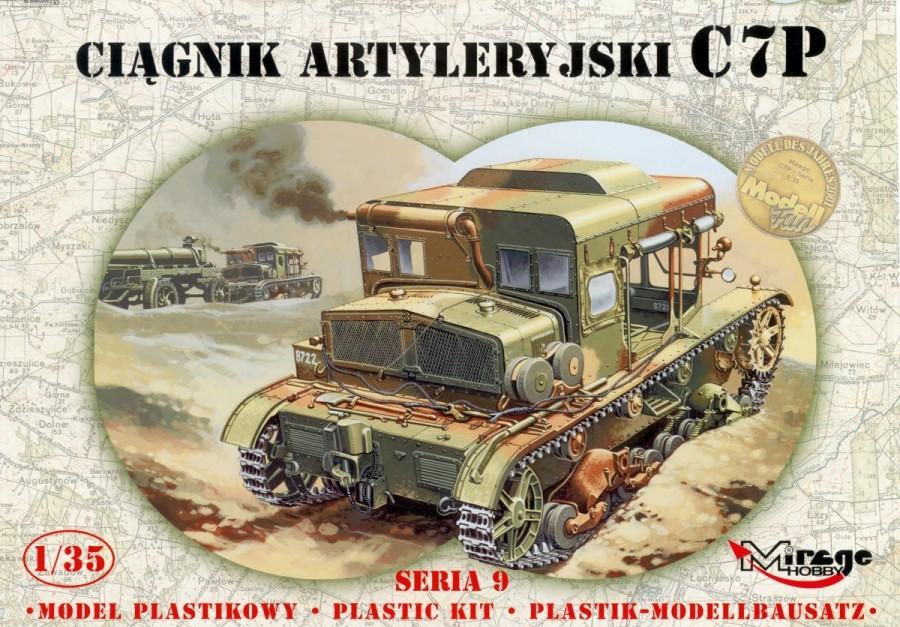 MIRAGE Poľský delostrelecký traktor C7P - 1:35