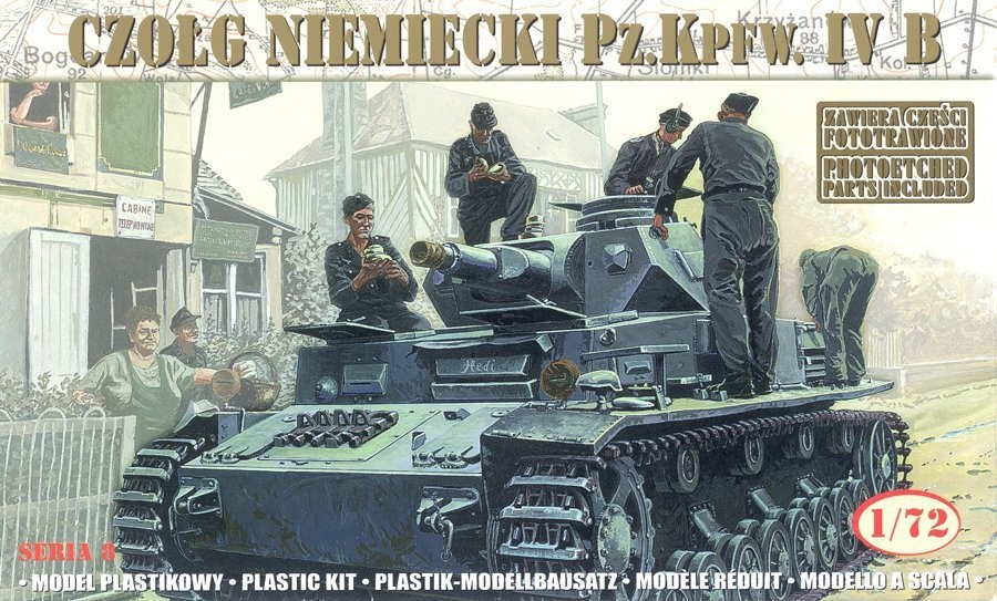 Plastový model MIRAGE: German Tank Pz.Kpfw. IV Ausf. B