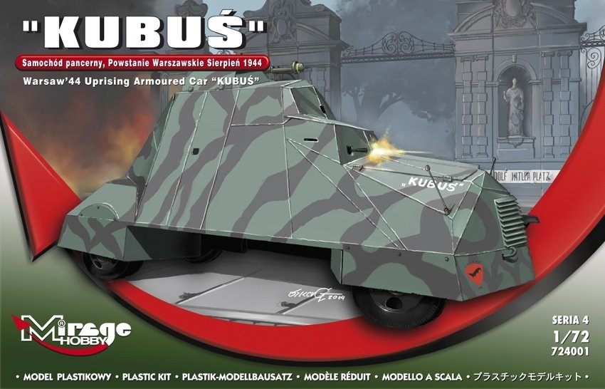MIRAGE KUBUŚ Obrnené auto - Varšavské povstanie v auguste 1944 1:72