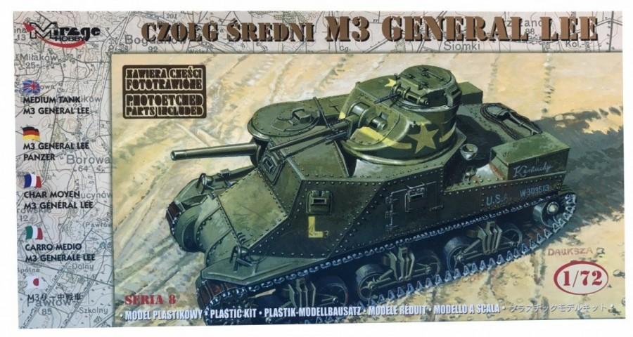 Plastový model MIRAGE M3 GENERAL LEE Czołg Średni