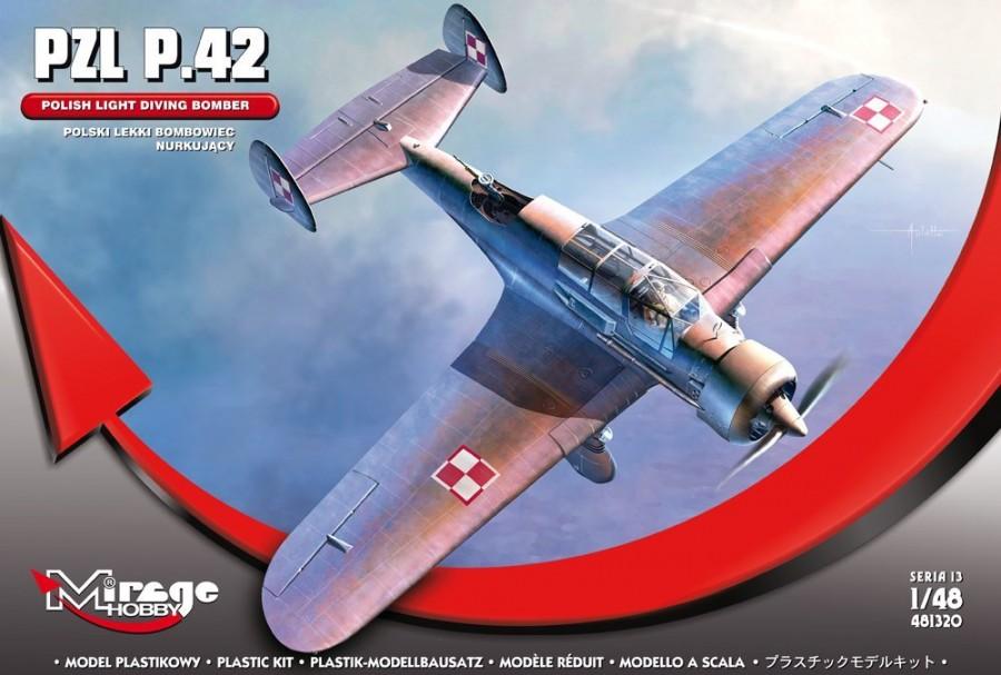 MIRAGE PZL P.42 Poľský ľahký potápačský bombardér