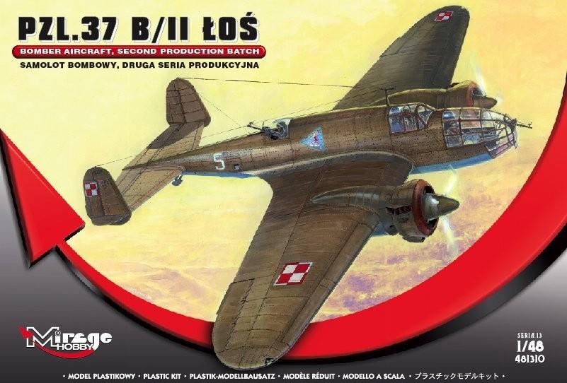MIRAGE: PZL-37 B / II ŁOŚ Polish Bomber Aircraft, SECOND PRODUCTION SERIES