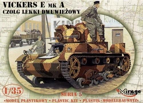 MIRAGE Vickers E Mk Poľský dvoj vežový tank - 1:35