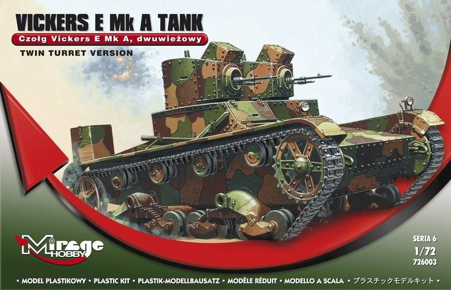 Plastovy model MIRAGE: Vickers E Mk A Polish Two-Tank Tank - 1:72