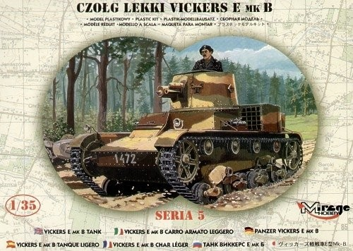 MIRAGE Vickers E Mk B Poľský tanker - 1:35