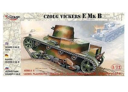 Plastovy model MIRAGE: Vickers E Mk B Polish Unicorn Tank - 1:72