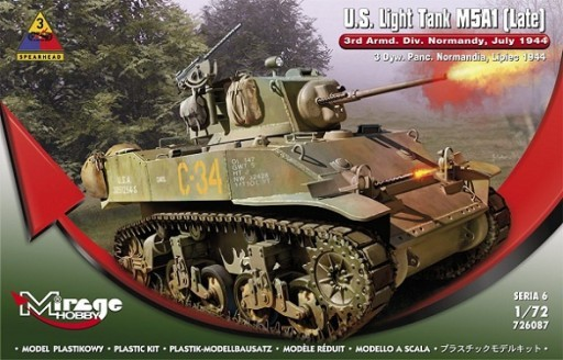 Mirage U. S. Light Tank M5A1 LATE 4th Armored Division, Normandy, 1944 Operation Cobra