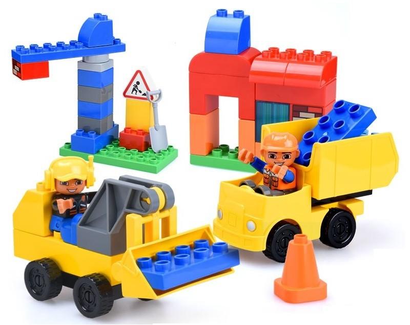 GOROCK Auta stavebnica bloky - 60 dielov