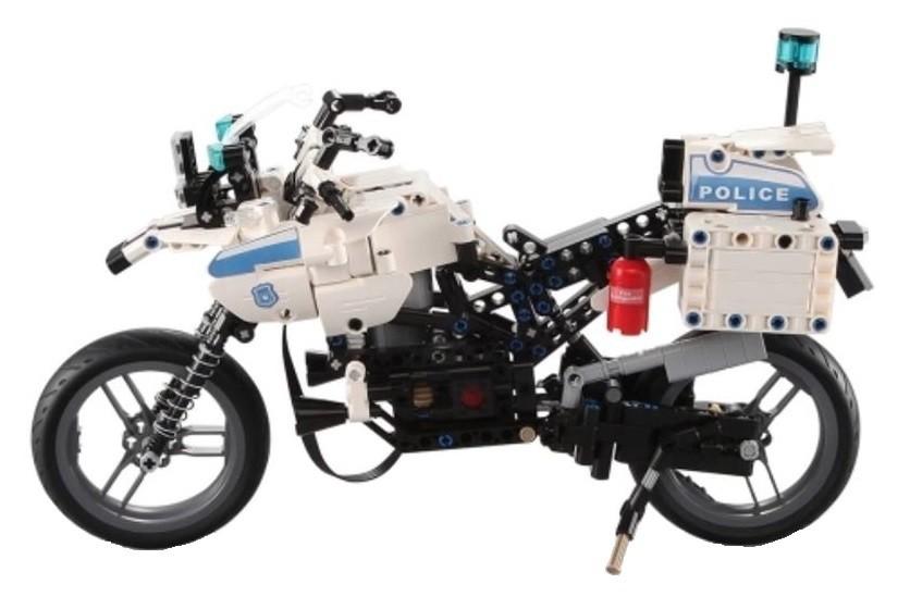 RC stavebnica na diaľkové ovládanie Double Eagle Policajná motorka - (C51023W)
