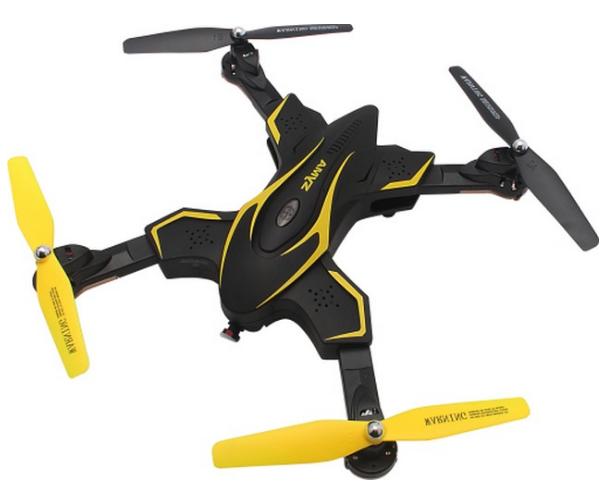 RC dron na ovládanie Syma X56W-P, HD kamera, RTR - žltá