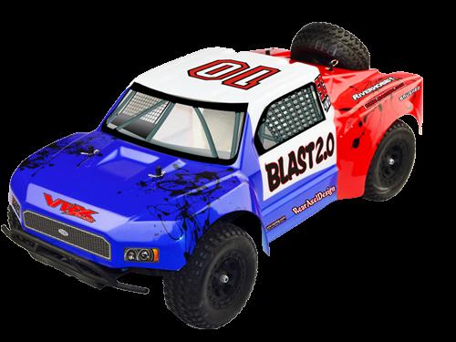 VRX Racing Octane Blast EBD 1:10 4x4 2,4 GHz RTR - modrá