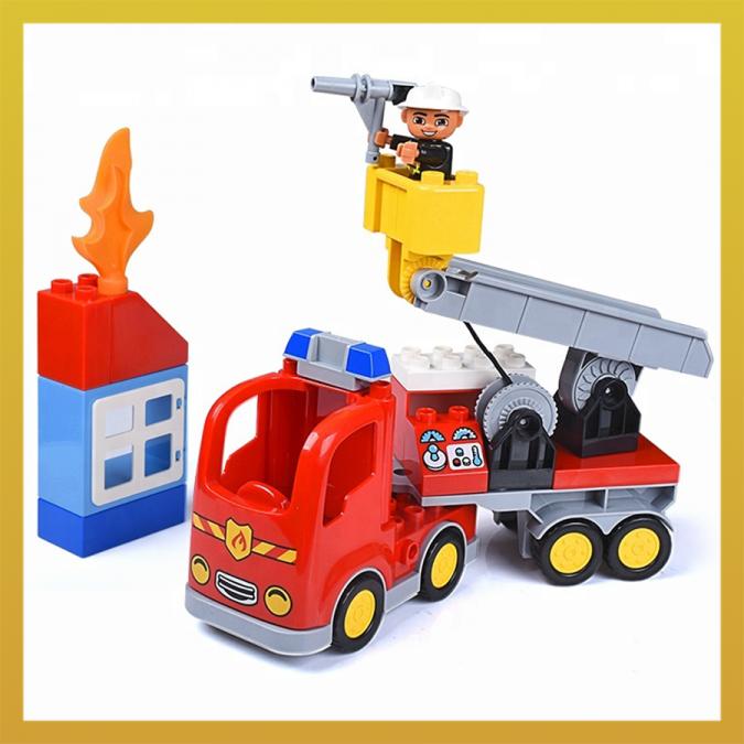 GOROCK Požiarnické auto bloky - 30 ks
