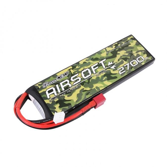 ASG Batéria do Airsoft zbrani 2700mAh 7.4V 25 / 50C Gens Ace Airsoft Gun