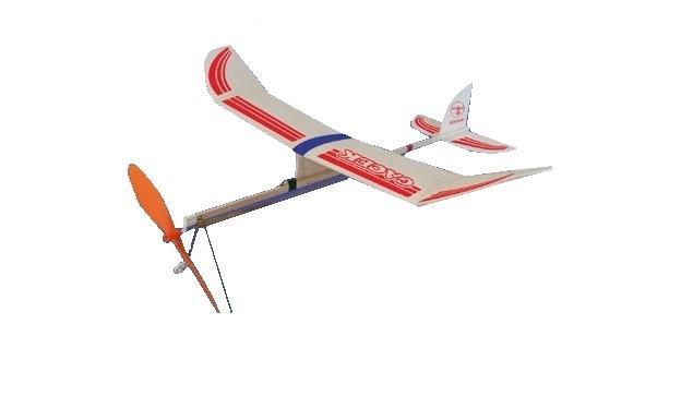 Hádzadlo HM: lietadlo Gacek s gumovým pohonom