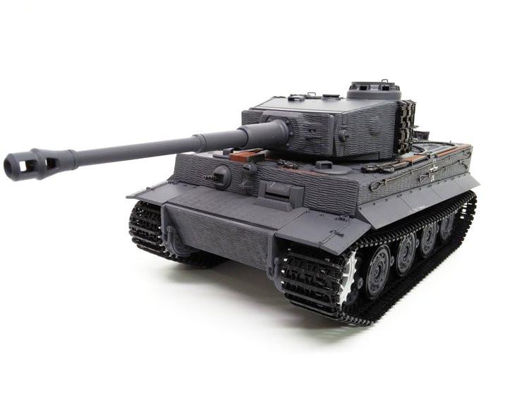 RC tank Taigen Tiger I 1:16 2.4GHz RTR strieľa BB guličky - modrý