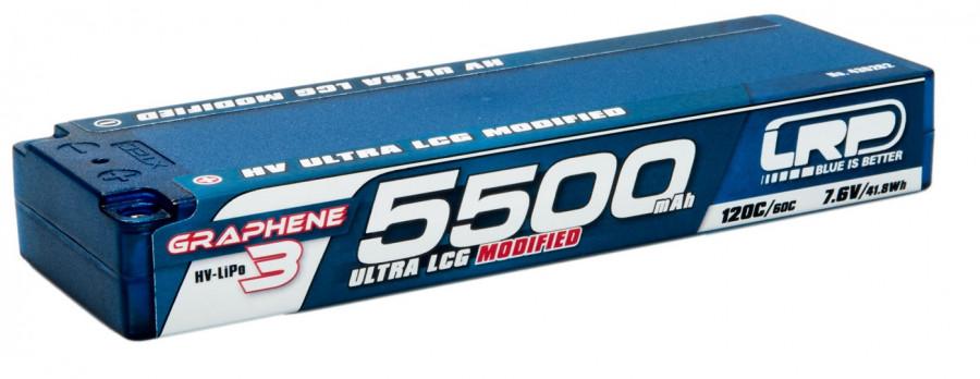 Batéria LRP LiPo 5500mAh 7.6V 120C/60C hardCase Graphene 3
