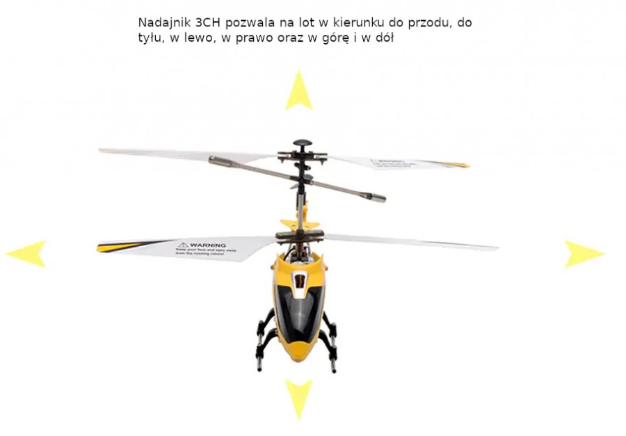 RC vrtuľník na ovládanie Syma S107H Phantom 2,4GHz - žltý