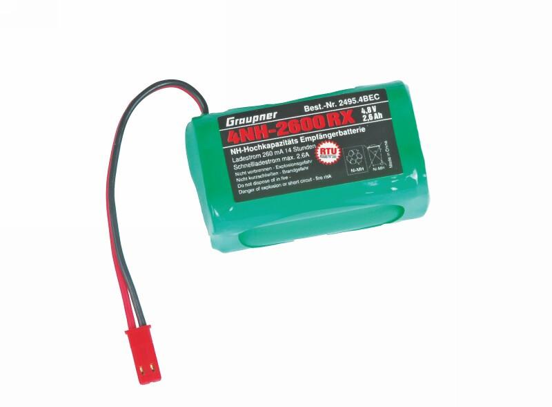 Batéria Graupner 2600mAh 4.8V NiMH - BEC