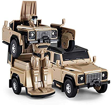 RC Land Rover Transformer Die Cast 1:32 RTR  - žltý