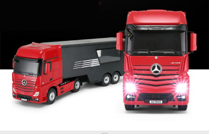 RC kamion Mercedes-Benz Actros s návesom, Rastar 2,4 GHz 1:26 - červený