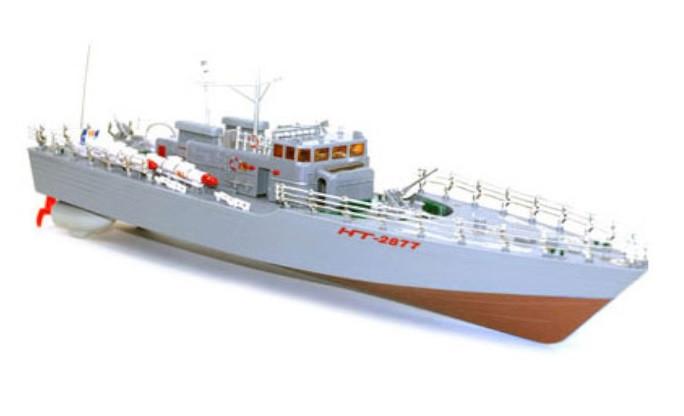 RC loď HT: Torpédový čln 1: 115 2,4 GHz RTR - červený