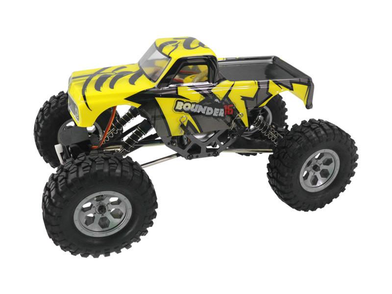RC Himoto Mini Rock Crawler na ovládanie 1:16 4WD 2,4 GHz - žltá