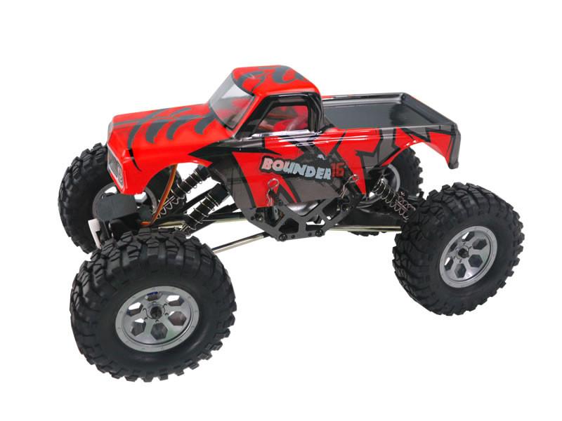 RC Himoto Mini Rock Crawler na ovládanie 1:16 4WD 2,4 GHz - červený