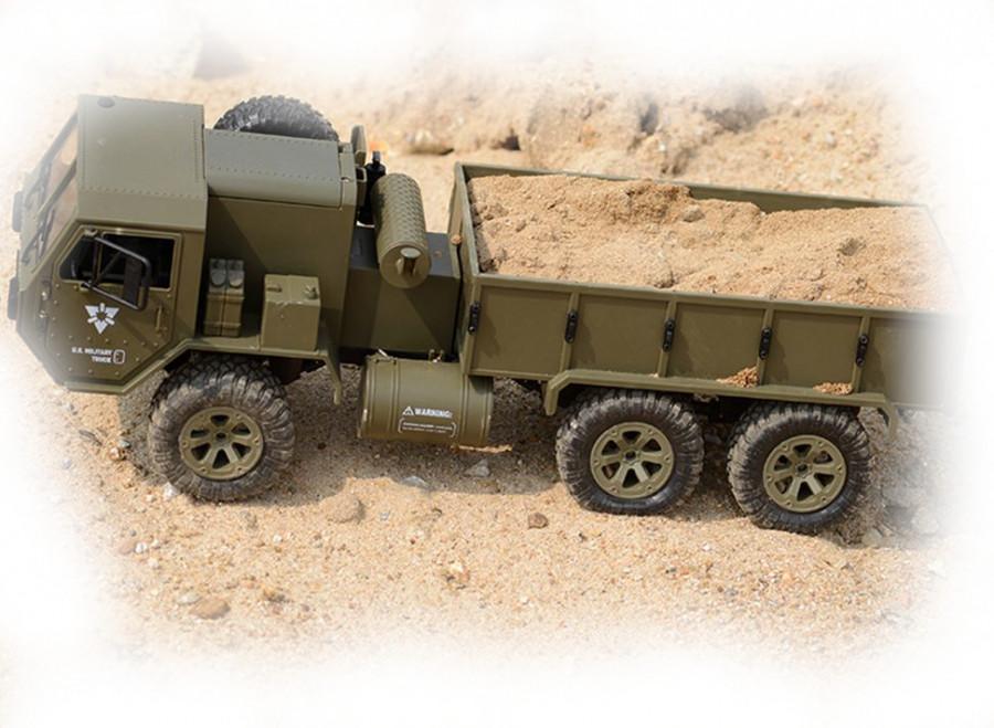 JJRC Vojenský nákladný automobil P801 1:16, 6x6, 2,4 GHz, RTR - zelený