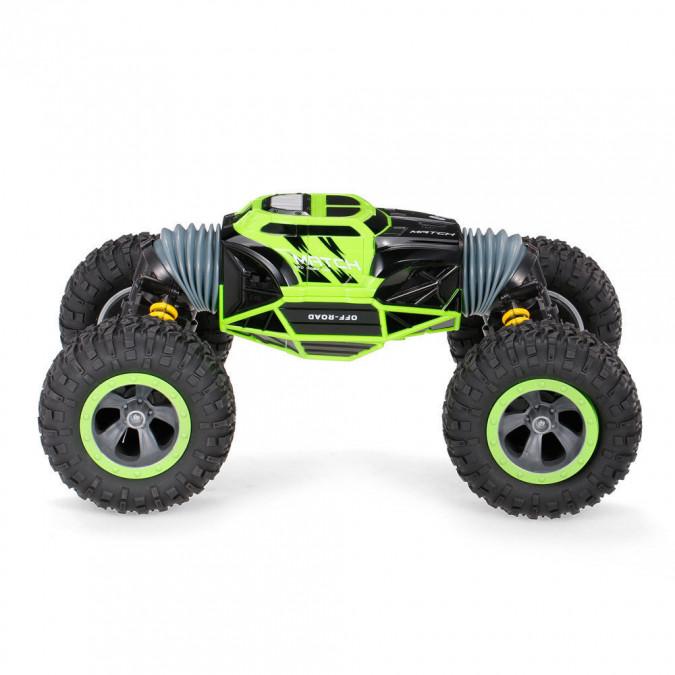 RC hračka na ovládanie JJRC obojstranné auto 1:16 2.4GHz zelená