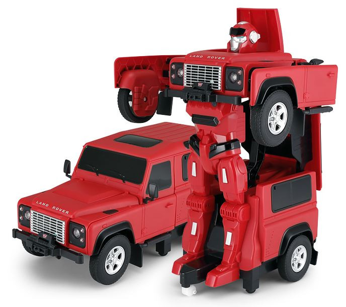 RC Transformer RASTAR na ovládanie Land Rover 1:14 2.4GHz RTR - červený