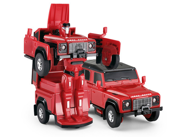 RC Land Rover Transformer Die Cast 1:32 RTR - červený