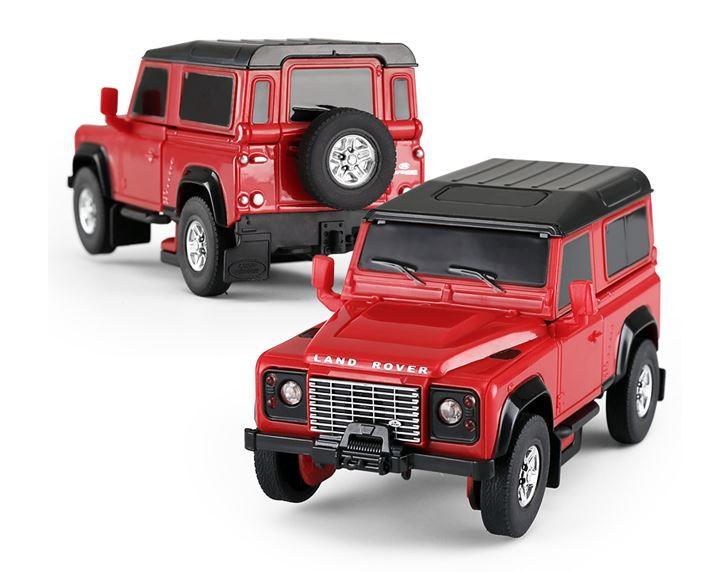 RC Land Rover Transformer Die Cast 1:32 RTR - červený