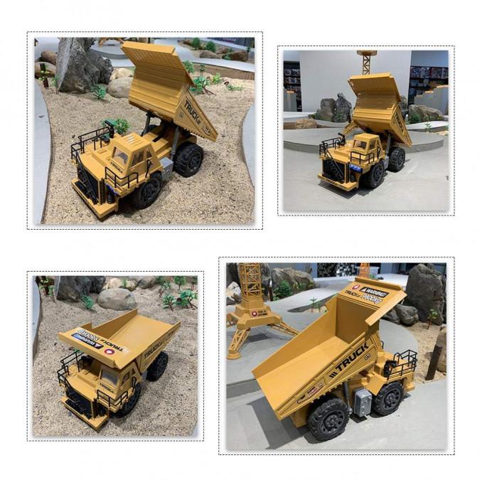 RC Banské nákladné auto Dump Truck na ovládanie 6836L 1:18 2.4GHz 6CH RTR