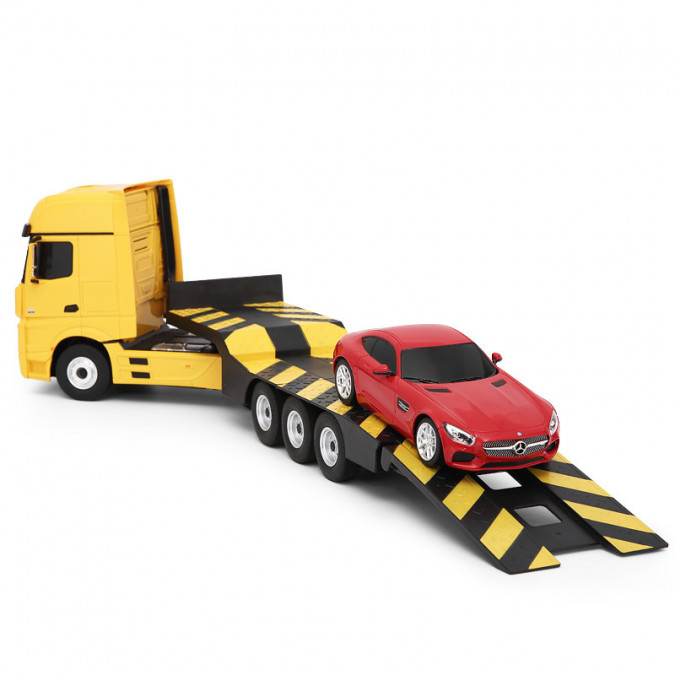 RC kamión Rastar Mercedes-Benz Actros z návesom  1:26 - žltý