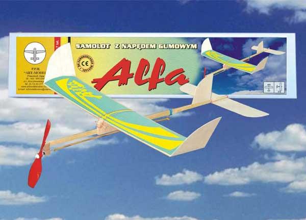 Hádzadlo na gumový pohon ALFA