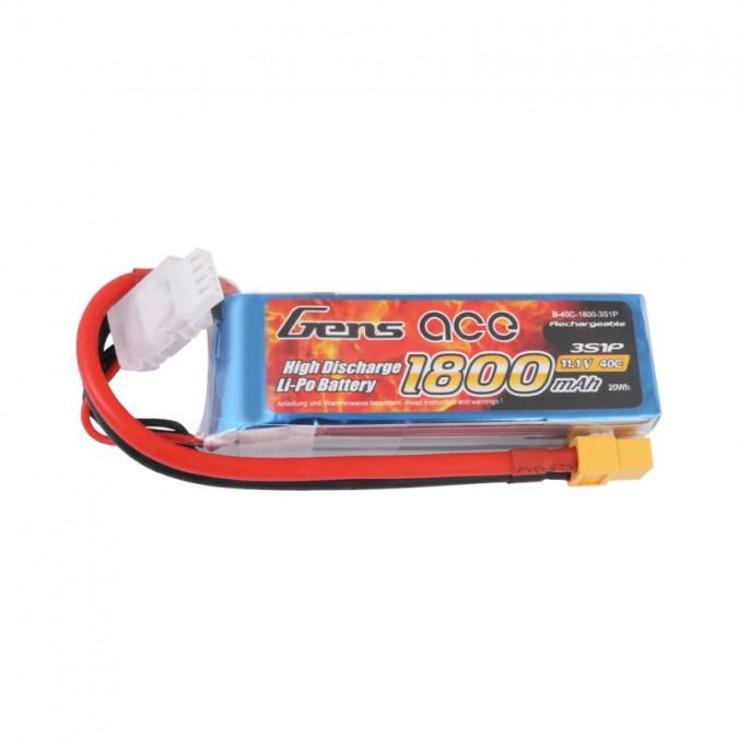 Batéria 1800mAh 11.1V 40C TATTU Gens Ace XT60