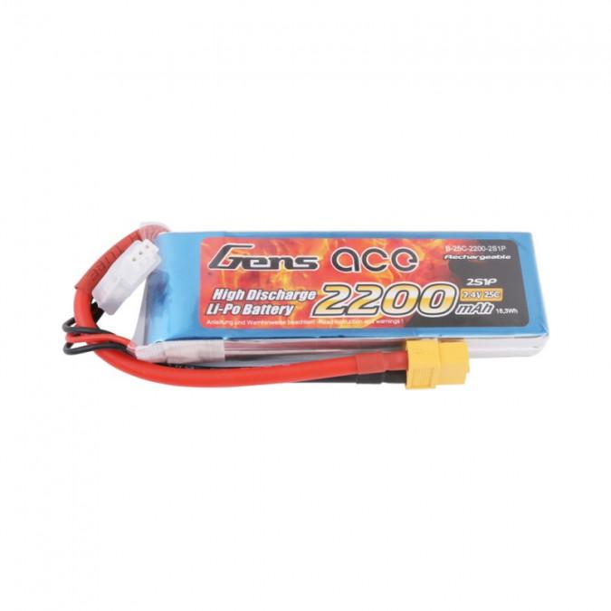 Batéria 2200mAh 7,4V 25C Gens Ace  XT60