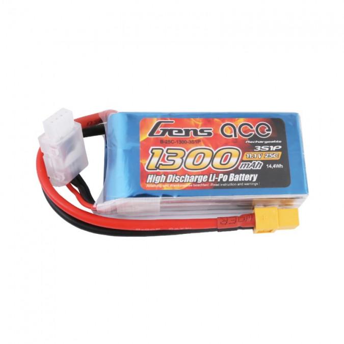 Batéria 1300mAh 11.1V 25C Gens Ace  XT60