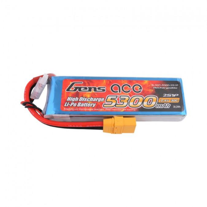 Batéria 5300mAh 7.4V 30C Gens Ace XT90